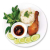 Sticky Rice with Roasted Chicken Thigh X�i ?�i G� R�ti