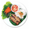 Vermicelli & Grilled Pork served with Fresh Herbs